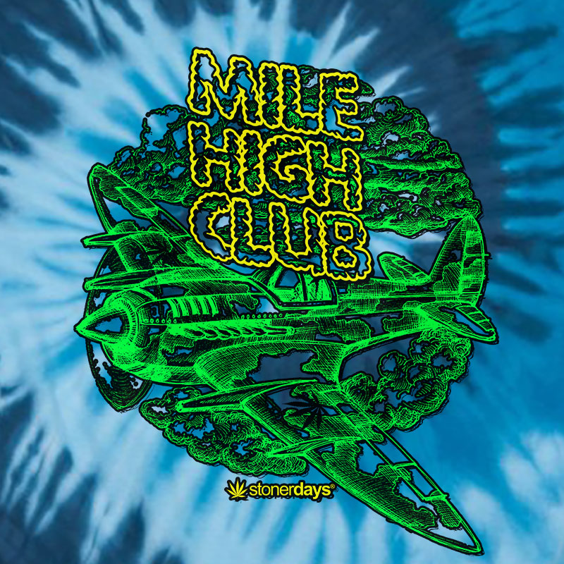 Mile High Club Blue Tie Dye Tee
