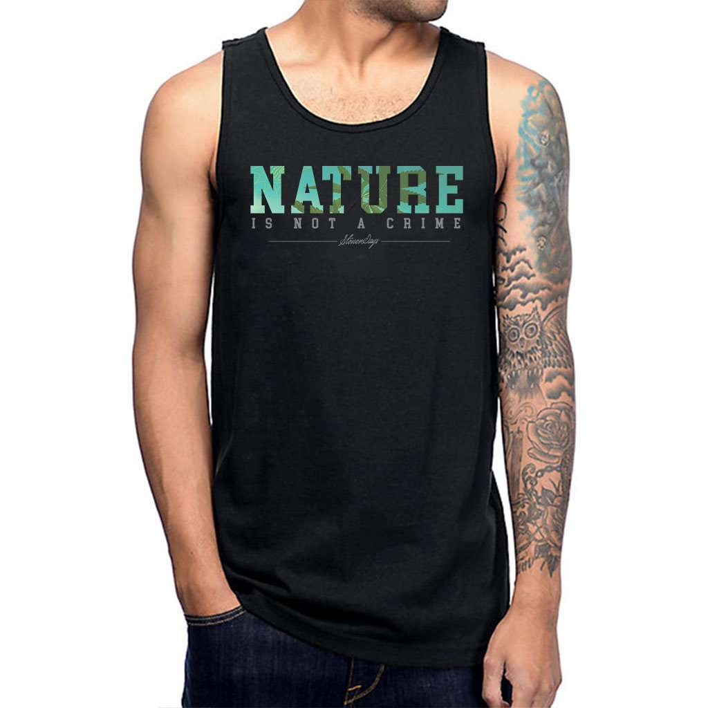 Mens Nature Is Not A Tank Top