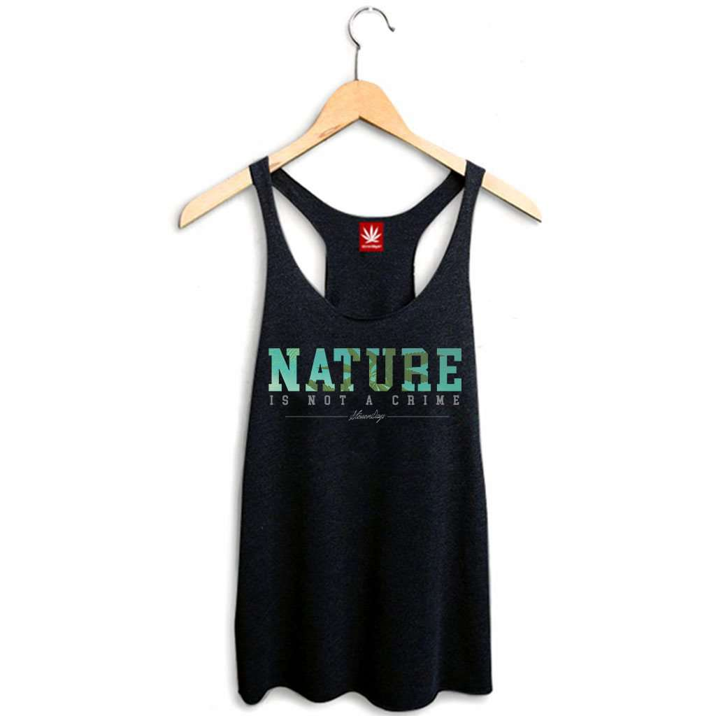 Nature Is Not A Crime Racerback