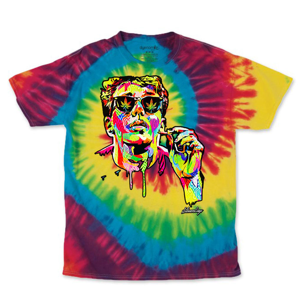 Pop Art Brian Rainbow Tie Dye Tee