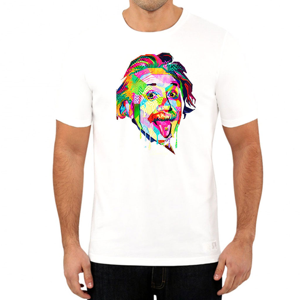 Pop Art Einstein White Tee