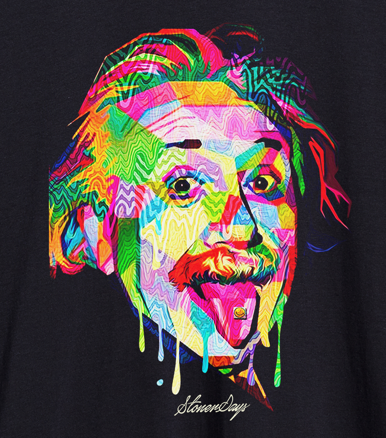 Mens Pop Art Einstein Tank Top
