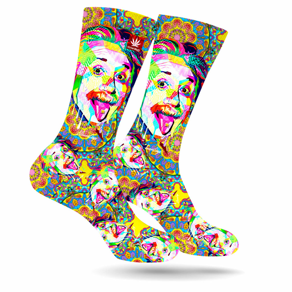 Einstein Pop Art Cannabis Socks