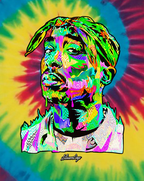 Pop Art Pac Rainbow Tie Dye Tee
