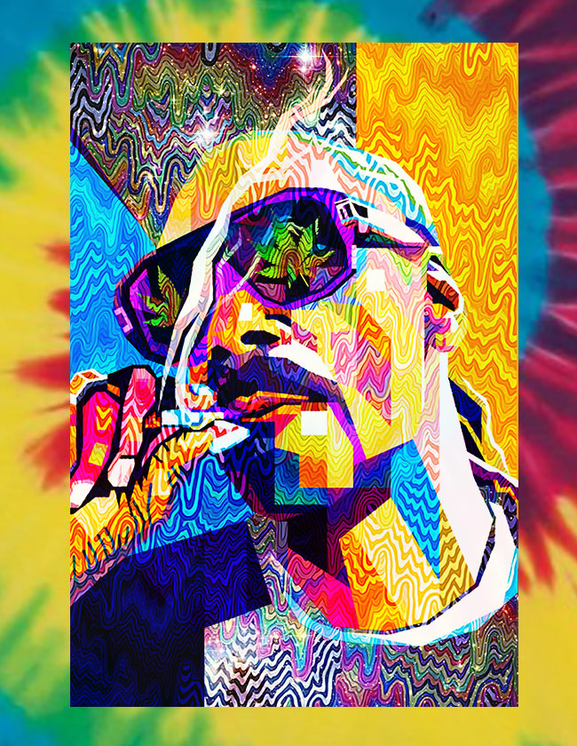Pop Art Snoop Tie Dye