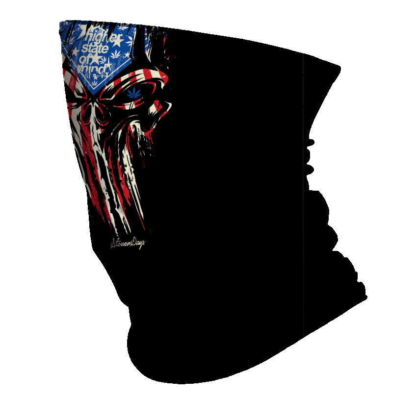 Punisher Red White and Blue Gaiter