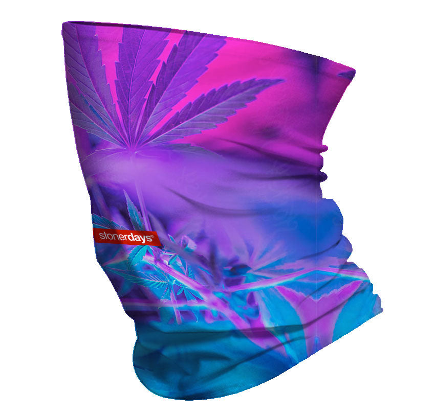 Purps and Blue Hues Neck Gaiter