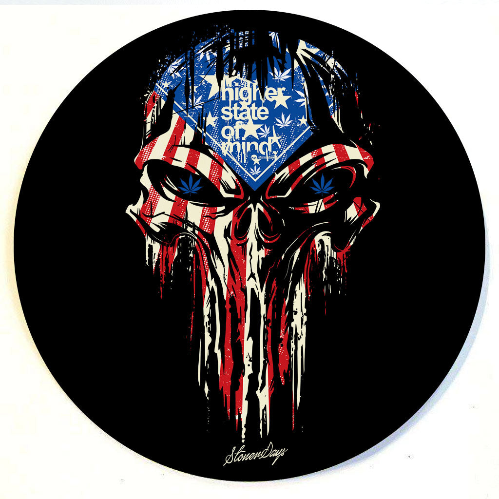 Punisher Stars and Stripes Dab Mat