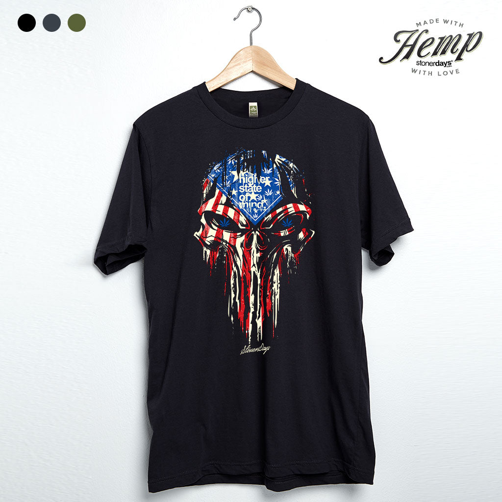 Punisher USA Flag Hemp Tee
