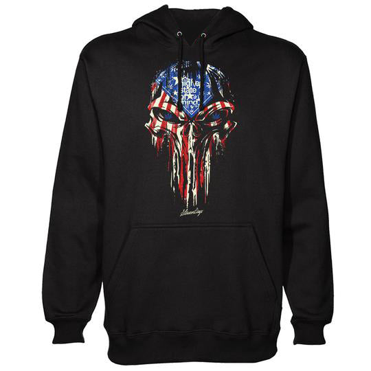 PUNISHER USA FLAG HOODIE
