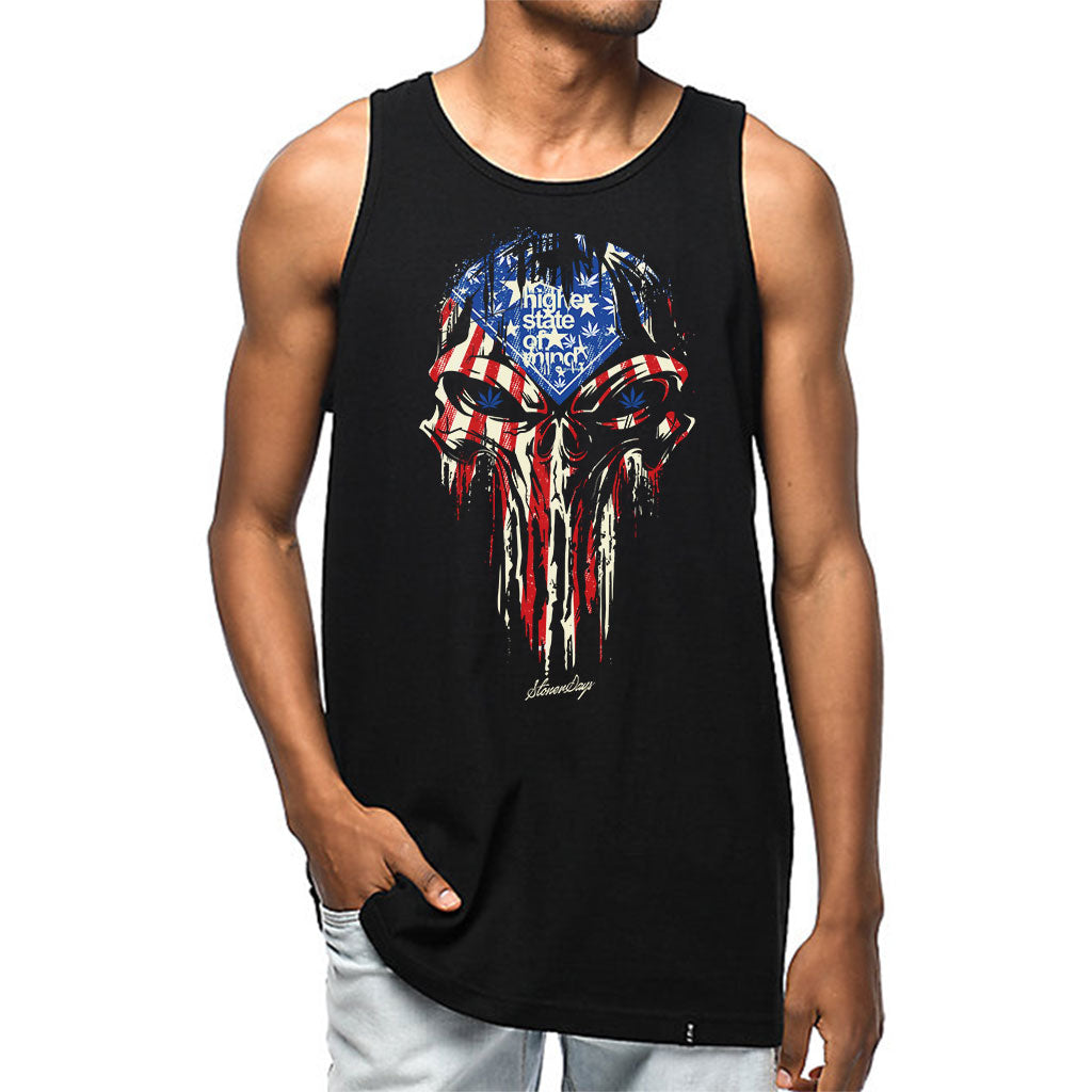 Punisher USA Flag Mens Tank