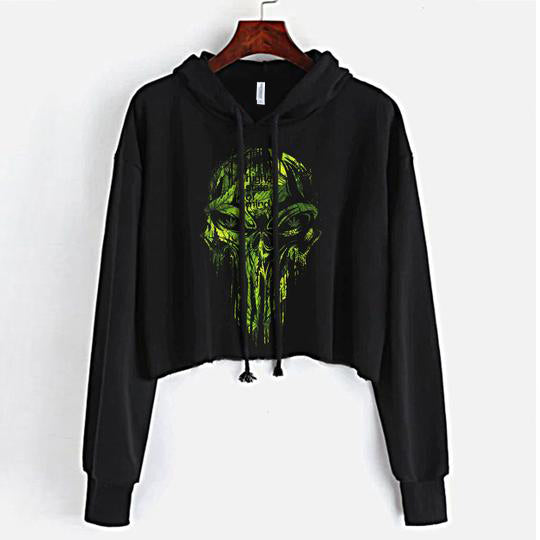 Punisher Crop Top Hoodie