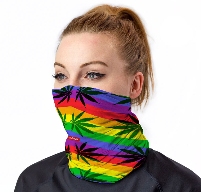 Rainbow Stripes Neck Gaiter