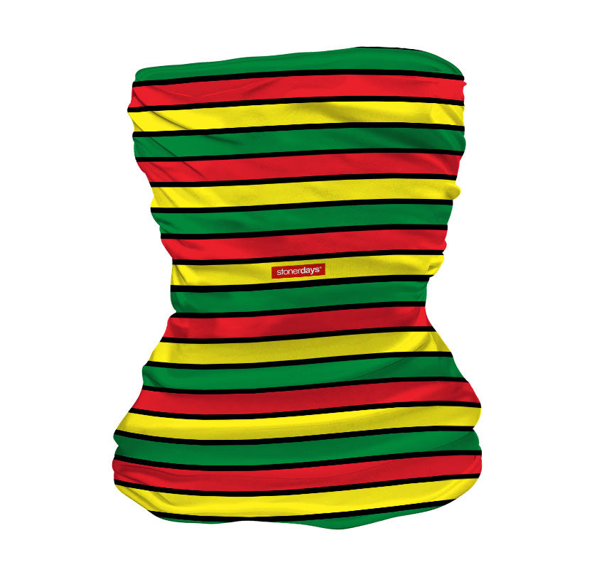 Rasta Stripes Red Yellow Green Neck Gaiter