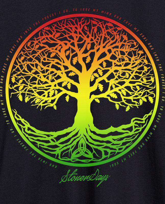 WOMEN'S RASTA TREE OF LIFE RACERBACK