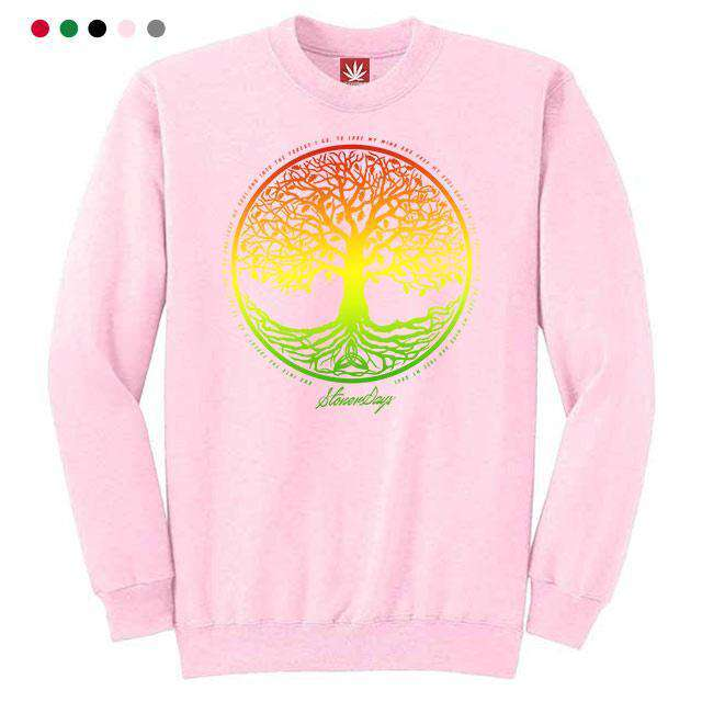 RASTA TREE OF LIFE CREWNECK SWEATSHIRT