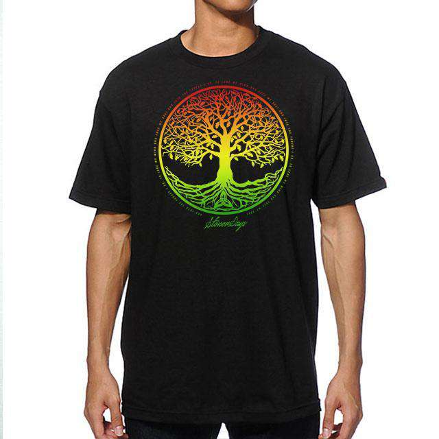 MEN'S RASTA TREE OF LIFE TEE (BLACK)