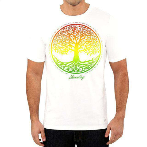 MEN'S RASTA TREE OF LIFE TEE (WHITE)