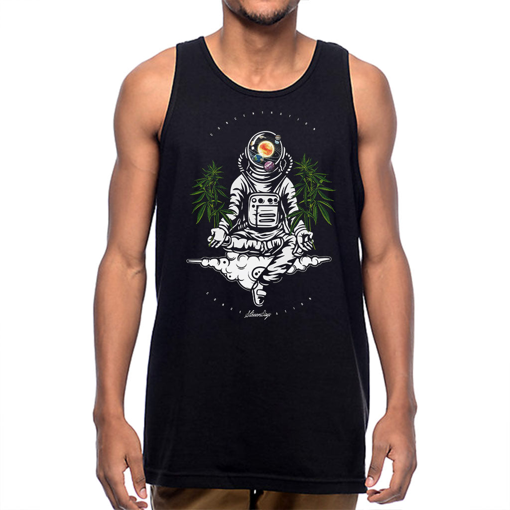 Mens Space Concentration Tank Top