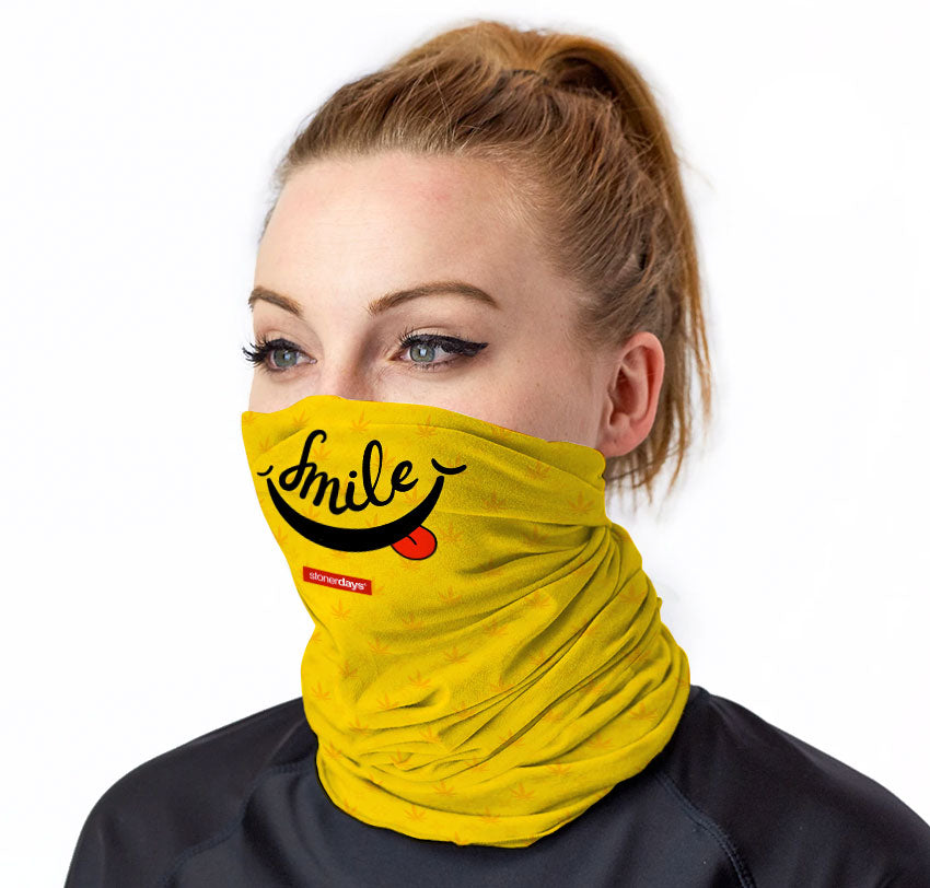 Smile StonerDays Neck Gaiter