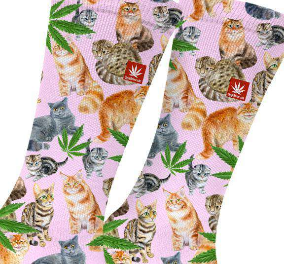 SMOKE MEOWT MARIJUANA SOCKS