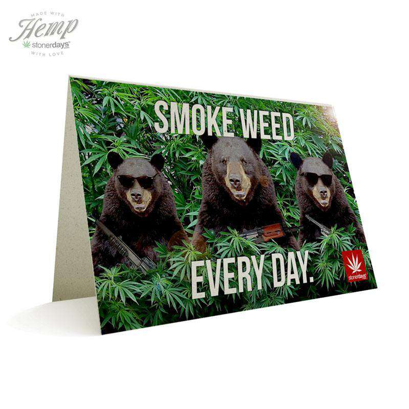 SMOKE WEED EVERY DAY BEARS HEMP CARDS