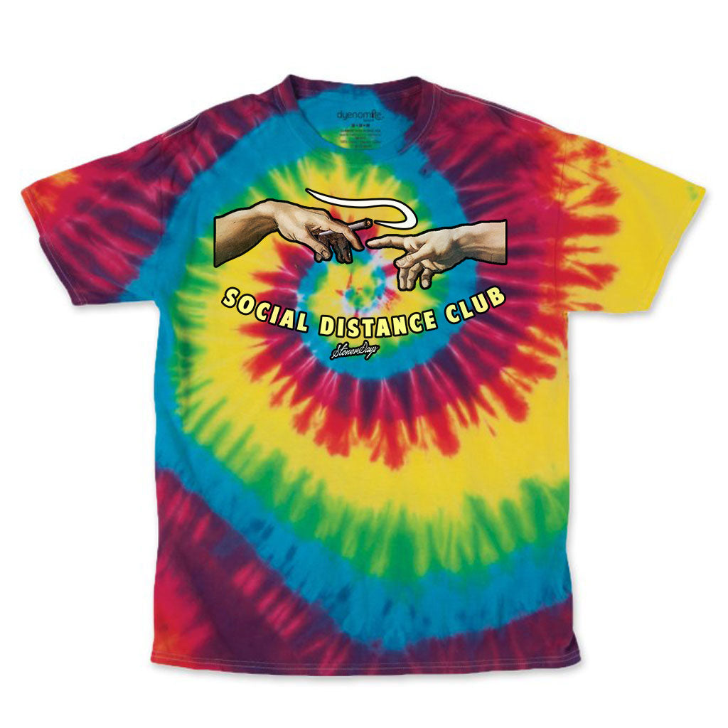 Social Distance Club Rainbow Tie Dye Tee