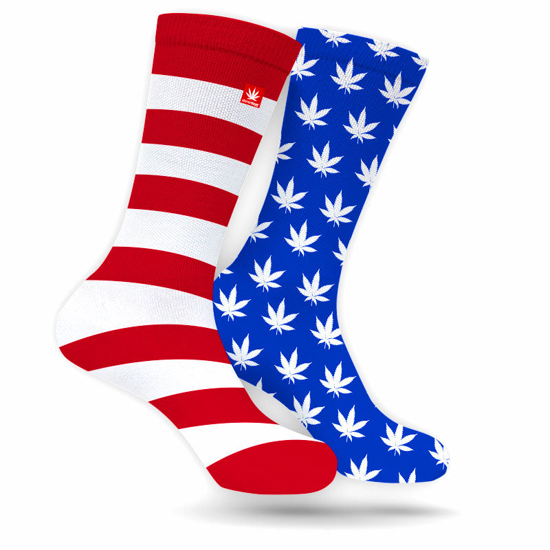 Stars & Stripes Weed Socks