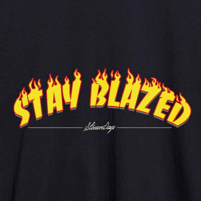 Stay Blazed Flames Crop Top Hoodie