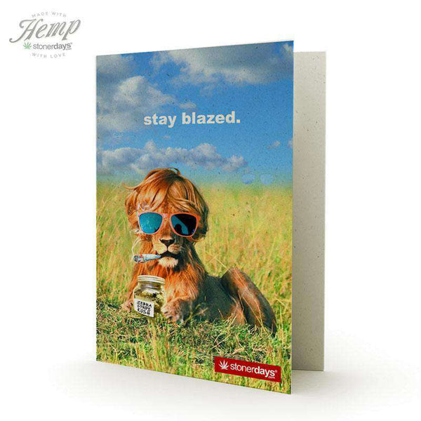 STAY BLAZED LION HEMP CARDS