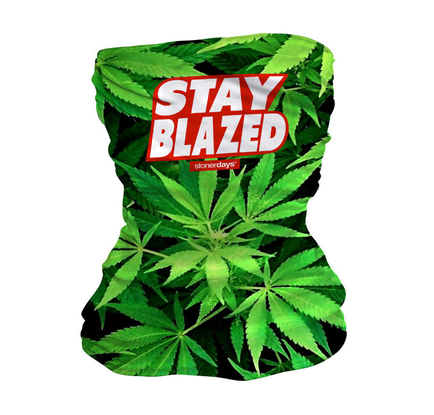 Stay Blazed Red White Neck Gaiter
