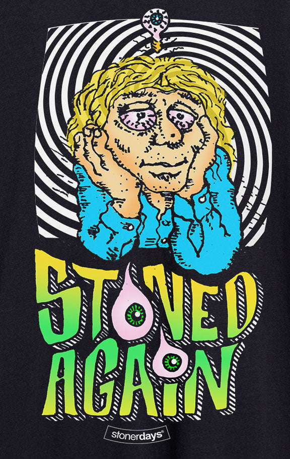 Stoned Again Rainbow Tie Dye Tee