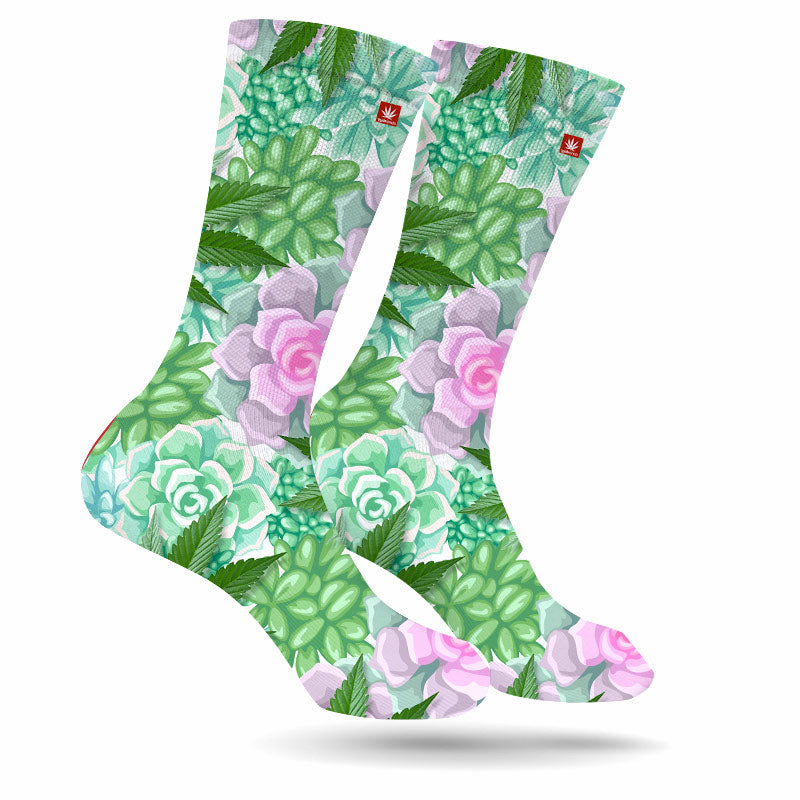 SUCCULENTS & SATIVA WEED SOCKS