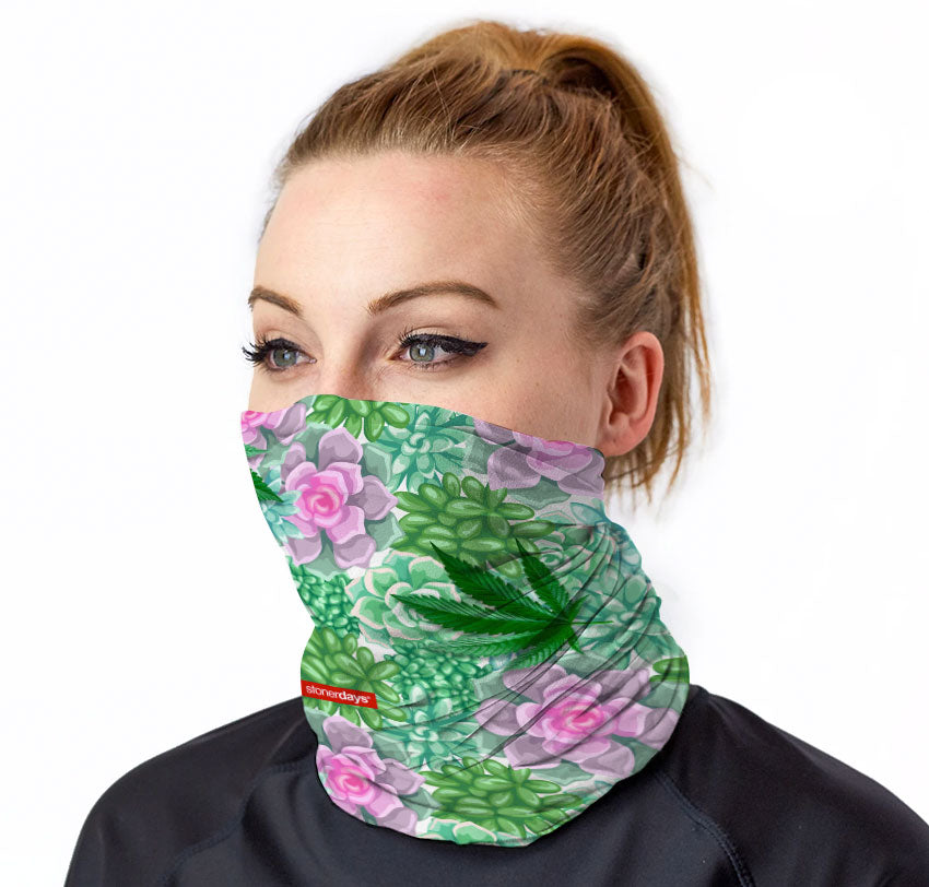 Succulents and Sativas Neck Gaiter