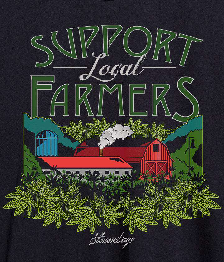 Women's Support Local Farmers Racerback