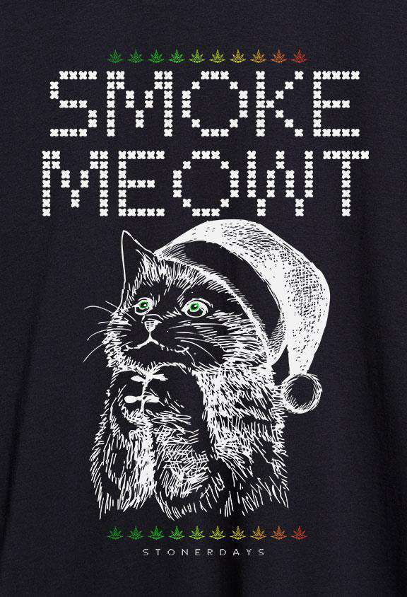 Mens Smoke Meowt Ugly Tee Shirt