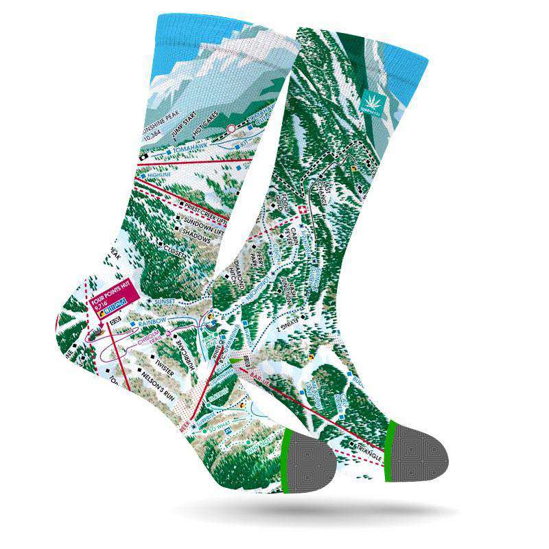 TELLURIDE MARIJUANA LEAF SOCKS