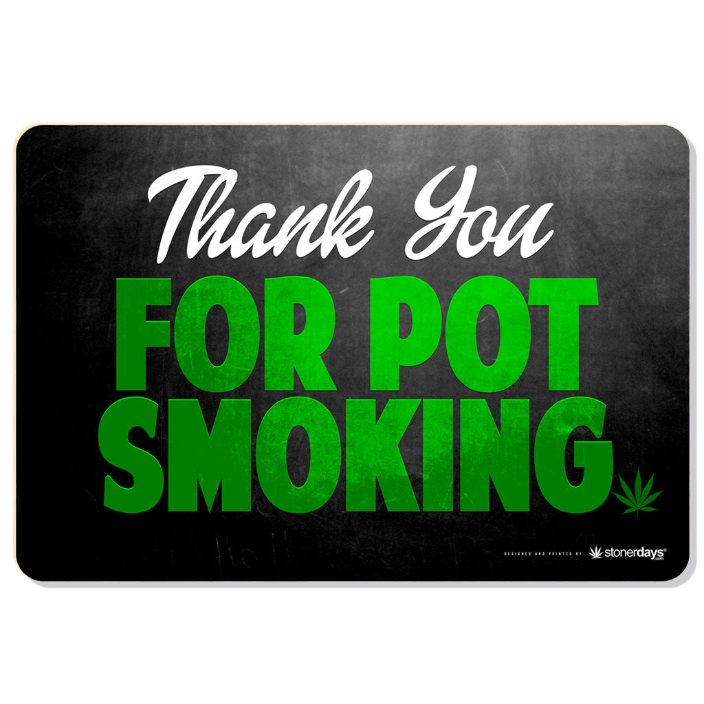 THANK YOU FOR POT SMOKING HEMP CARDS