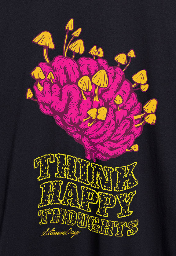 Think Happy Thoughts Crop Top Hoodie