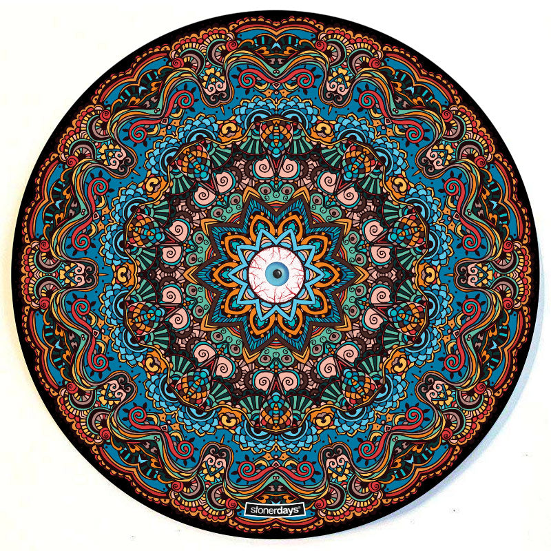 "Third Eye 8"" Round Dab Mat"