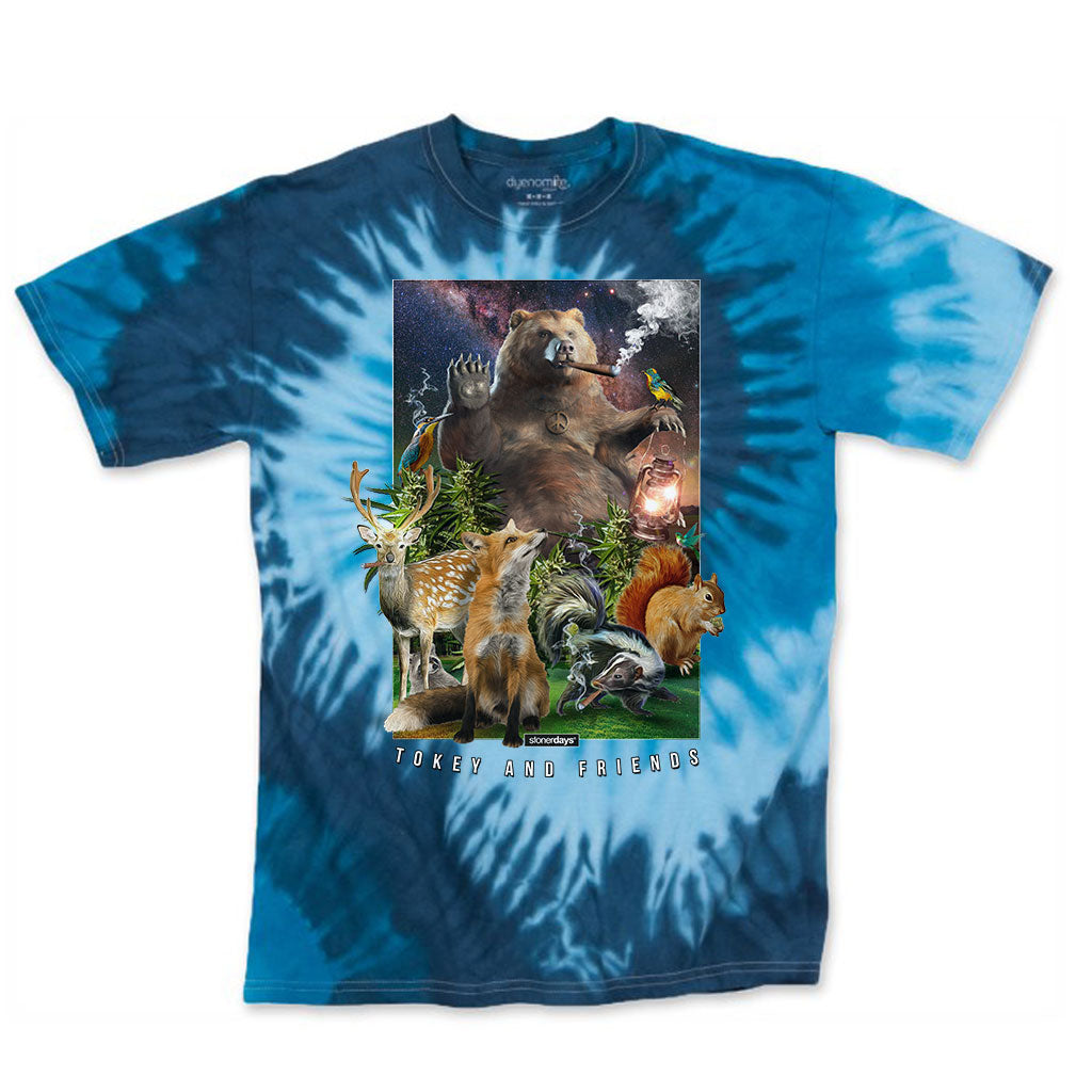Tokey & Friends Blue Tie Dye Tee