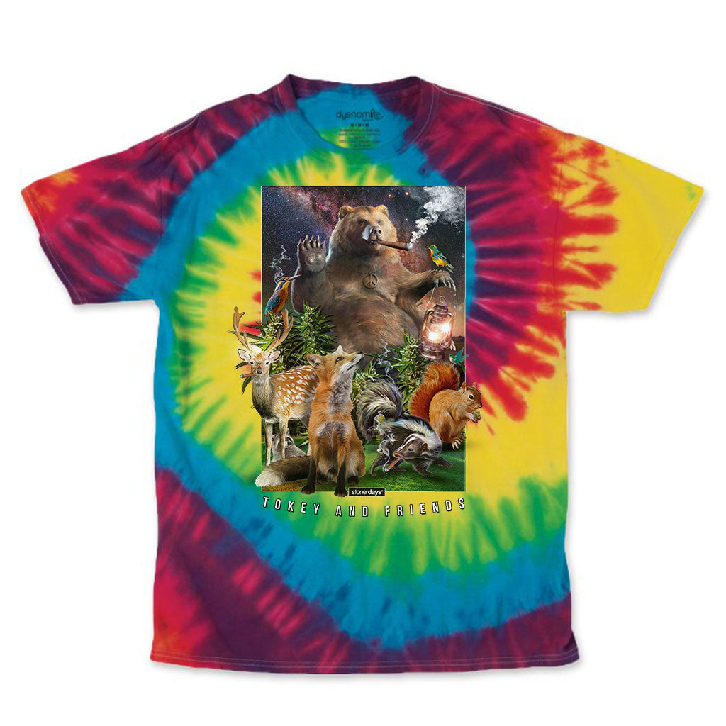 Tokey & Friends Rainbow Tie Dye Tee