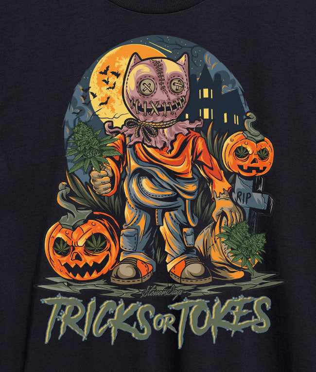 Trick or Tokes Crop Top Hoodie