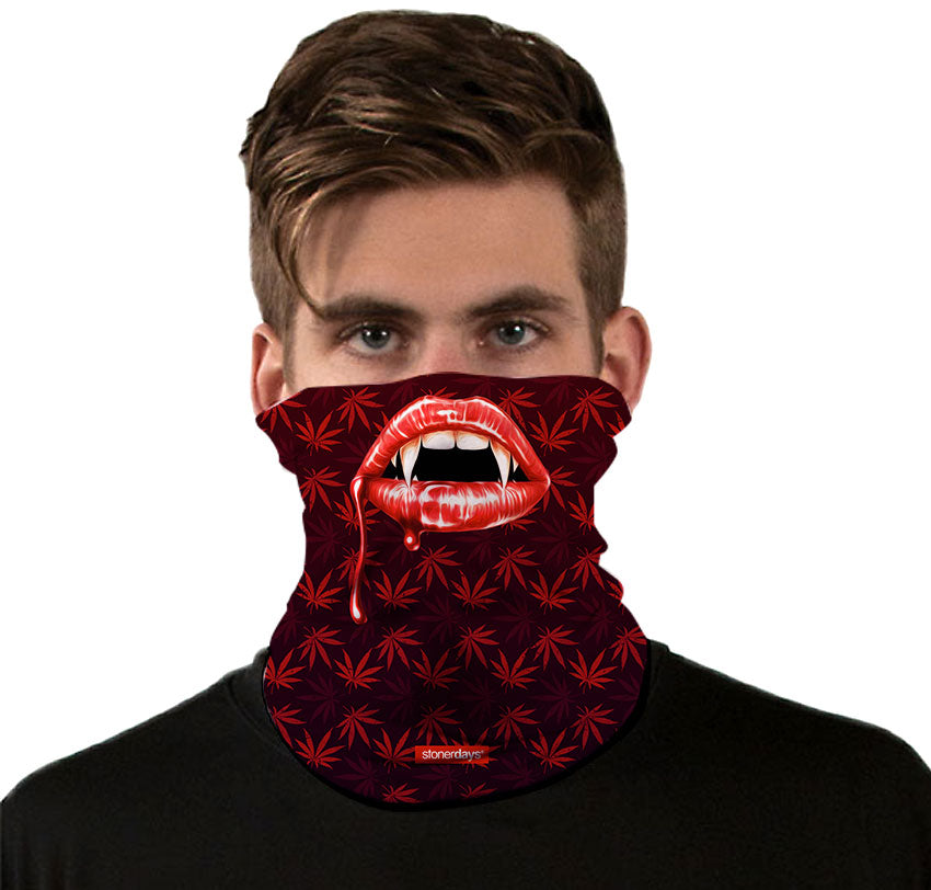 Vampire Fangs Halloweed Scary Neck Gaiter