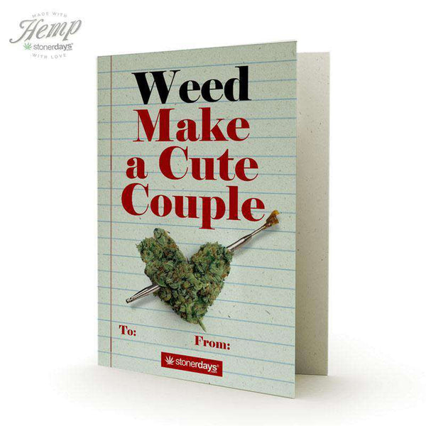 WEED MAKE A CUTE COUPLE HEMP CARDS