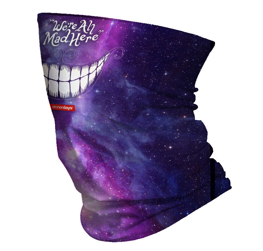 We're All Mad Here Smiling Neck Gaiter