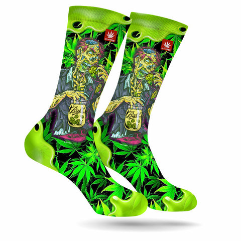 ZOOTED ZOMBIE MARIJUANA SOCKS