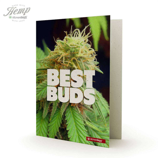 BEST BUDS HEMP GREETING CARD