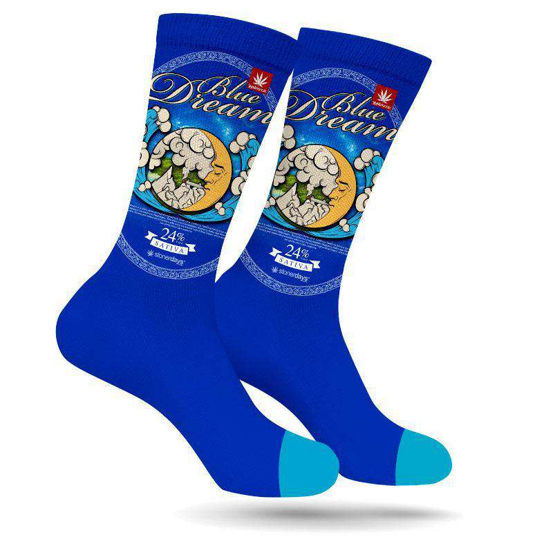 BLUE DREAM WEED MARIJUANA STONER SOCKS