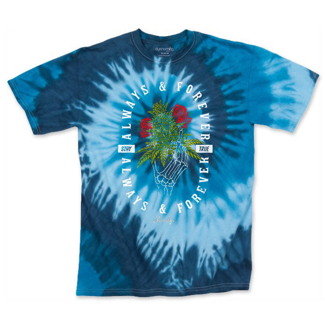 Men's Blue Always & Forever Tie Dye Tee